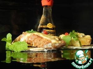 Рецепт Горячие бутерброды с шампиньонами в соевом соусе