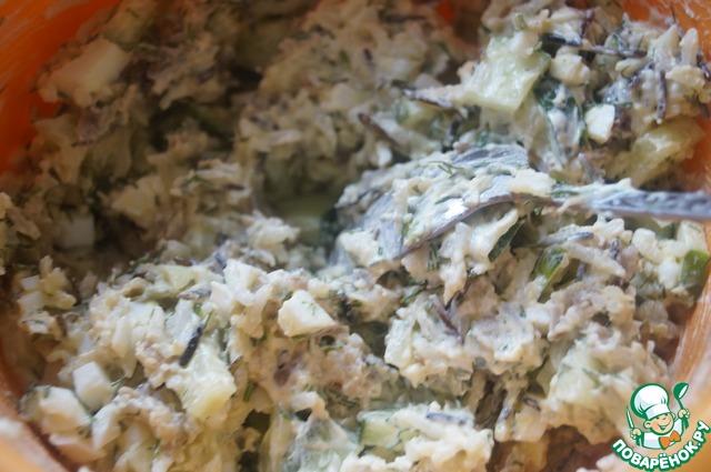 Салаты с копченой рыбы с пошагово