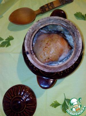 Рецепт Курица с капустой, тушеные в горшочках
