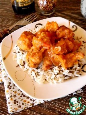 Рецепт Курица в кляре и сладко-остром соусе