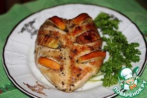 Рецепт Куриные грудки запеченые с лимоном и яблоками