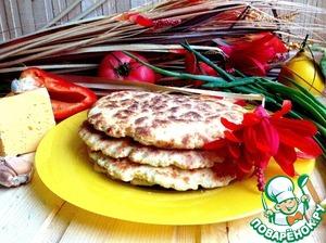 Рецепт Рисово-сырные лепешки с чесноком
