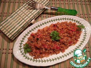 Рецепт Гречка в остром томатном соусе