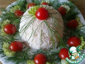 Рецепт Белый рисовый салат