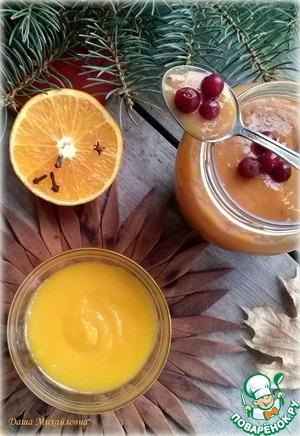 Рецепт Клюквенный и апельсиновый кёрд (курд) без масла