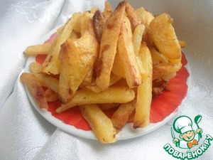 Рецепт Картофель фри, запеченный с яичным белком
