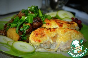 Готовим рецепт с фото Куриное филе в сливочном соусе