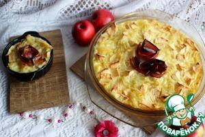 Рецепт Лапшевник с яблоками