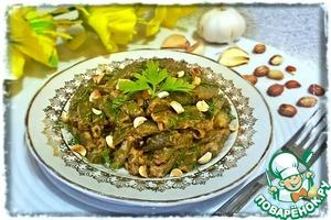 Рецепт Стручковая фасоль в арахисовом соусе