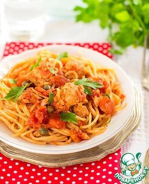 Рецепт Паста с тунцом в томатном соусе