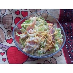 Салат с сёмгой и пекинской капустой рецепт с