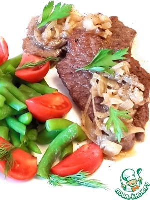 Рецепт Лангет из говядины в луковом соусе