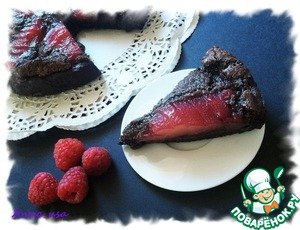 Рецепт Миндально-шоколадный тарт с малиновыми грушами
