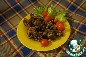 Рецепт Говядина, тушенная с имбирем и соевым соусом