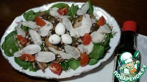 Рецепт Теплый салат из шампиньонов с топинамбуром