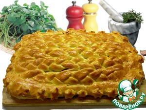 Рецепт Домашний плетенный пирог