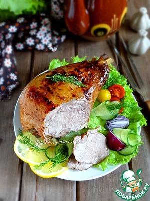 Рецепт Голень индейки с ароматом барбекю-маринада