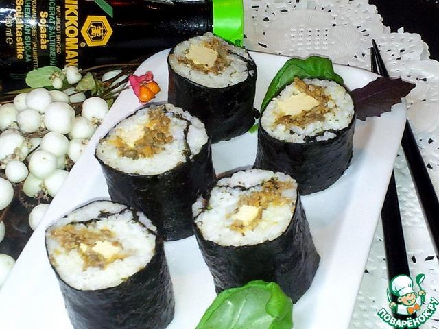 Суши с грибами в домашних условиях пошаговый рецепт с фото