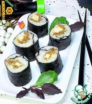 Рецепт Суши с грибами и курицей