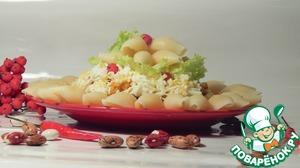 Рецепт Каша из риса с шампиньонами и фасолью