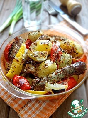 Рецепт Запеченный картофель с утиным мясом