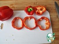 Фаршированные кольца перца ингредиенты