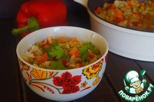 Рецепт Рис с овощами и фаршем