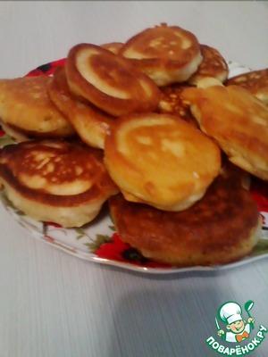 Рецепт Оладьи на кислом молоке без яиц