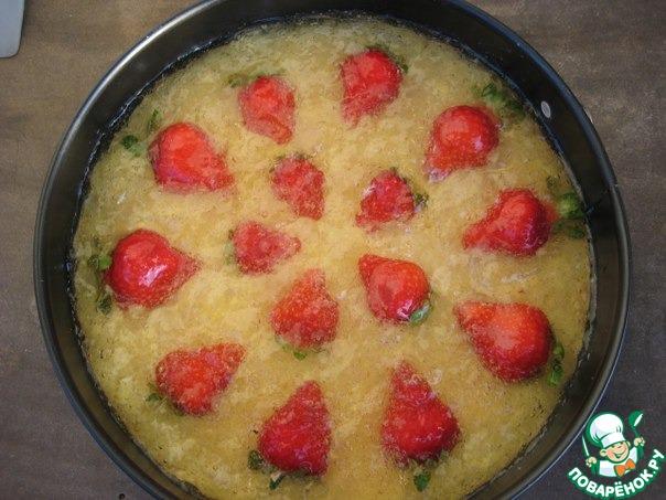 Торт с клубничным курдом рецепт