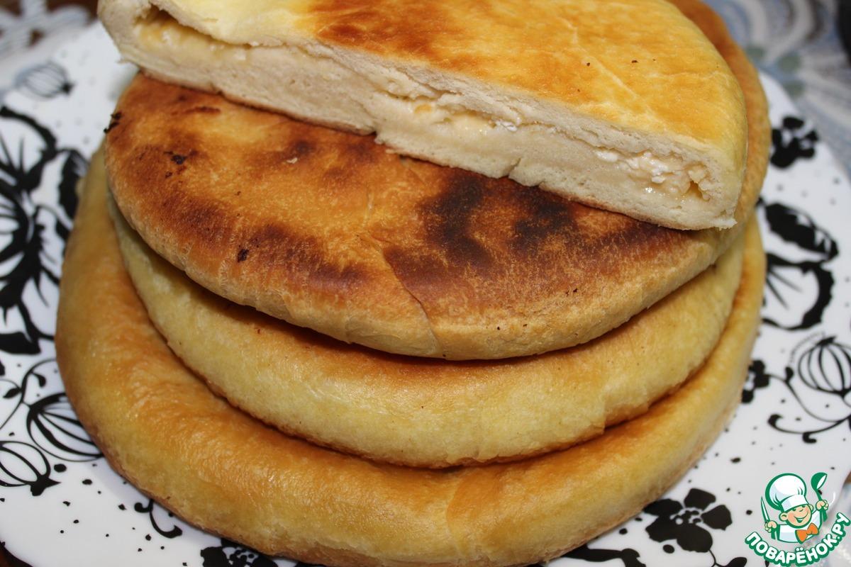 Пирог с сыром на сковороде рецепт