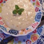 Сладкий молочный суп с каштанами