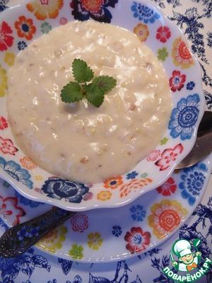 Рецепт Сладкий молочный суп с каштанами