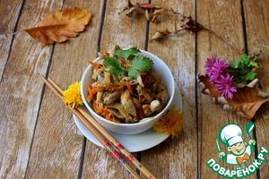 Рецепт Стир-фрай из свинины и вёшенок