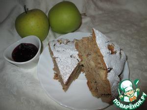 Рецепт Гречневый пирог с яблоками и корицей