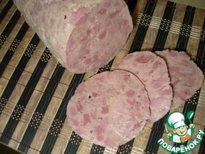Рецепт Ветчина варёная свиная