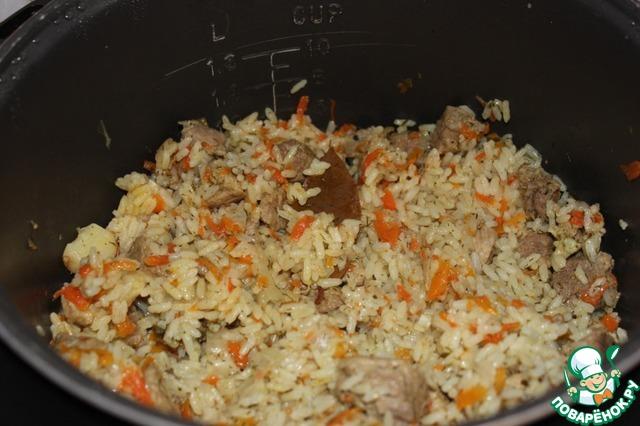 плов с пропаренным рисом и свининой рецепт