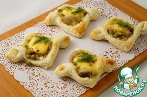 Рецепт Закусочные пирожки с рисом и острым сыром