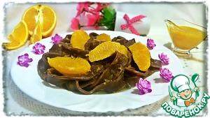 Рецепт Шоколадная лапша с апельсиновым соусом