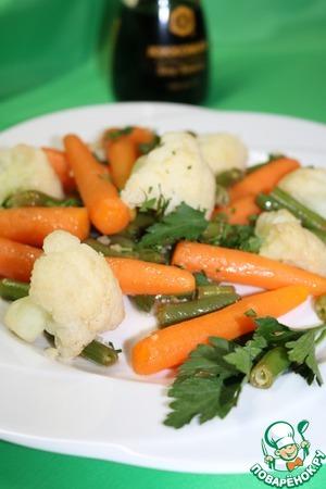 Рецепт Гарнир из моркови и цветной капусты