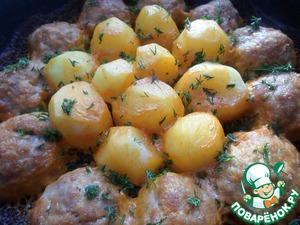 Рецепт Запеченные котлеты с картофелем