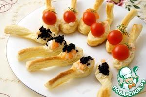 Рецепт Волованы с рисом и креветками