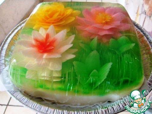 Фото тортов из желе