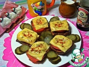 Рецепт Гренки с помидором и сыром