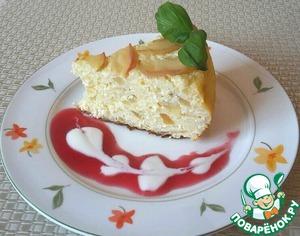 Рецепт Творожная запеканка с рисом и яблоками