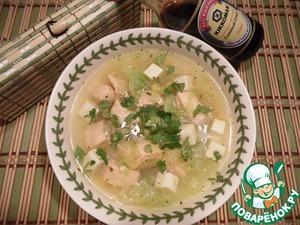 Рецепт Суп рыбный с китайской капустой и кукурузой