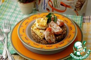 Рецепт Гречка с помидорами и сыром в индийском стиле