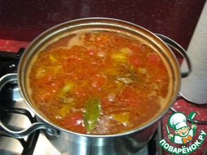 Рецепт Томатный суп с рыбными консервами и фасолью