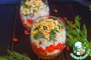 Рецепт Салат с рисом и арахисом