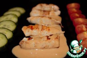 Рецепт Куриное филе с ореховым соусом