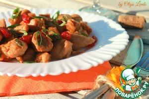 Рецепт Соте из свинины с вяленой вишней